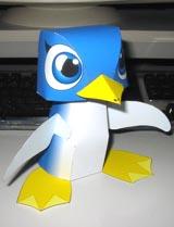 Papercraft de un pingüino / pengin. Manualidades a Raudales.