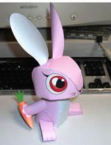 Papercraft imprimible y recortable de un conejo / rabbit. Manualidades a Raudales.